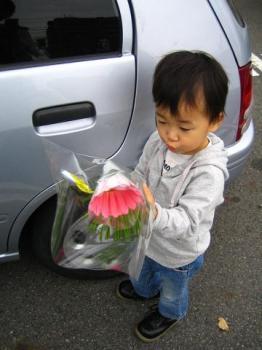お花もらったよ(^^)