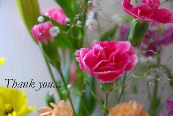 母が職場でいただいたのに、既にわが家で飾られている花。たくさんいただいて飾りきれなかったらしい・・・。