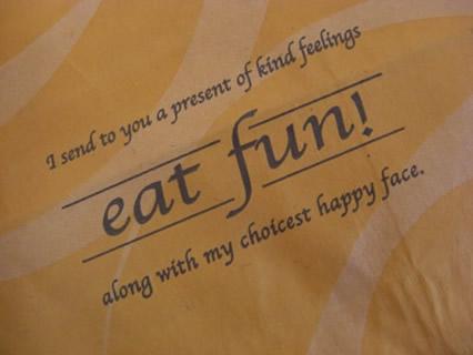 eat fun 紙袋