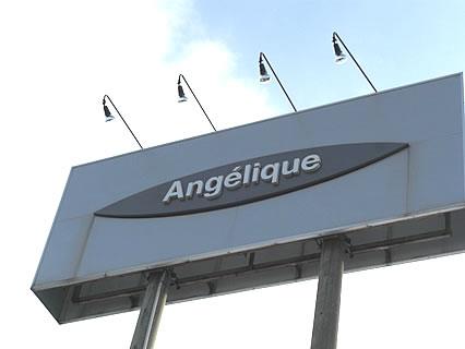 Angelique鶴田店 看板