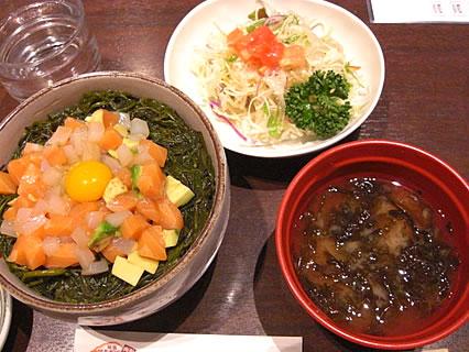 きくよ食堂 海鮮ユッケ丼