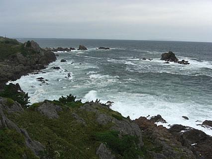 葦毛崎展望台から見た海