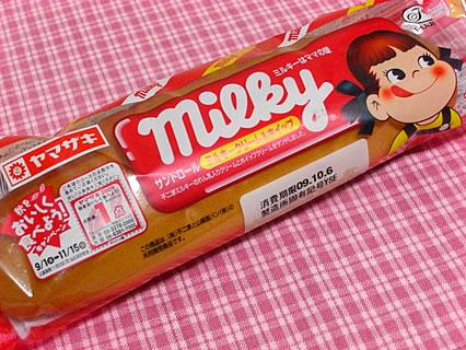 山崎製パン ミルキー サンドロール ミルキークリーム&ホイップ