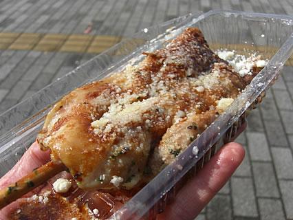2009 津軽の食と産業まつり フランス食堂 シェモア ジャンボ焼き鳥 バルサミコソース(350円)