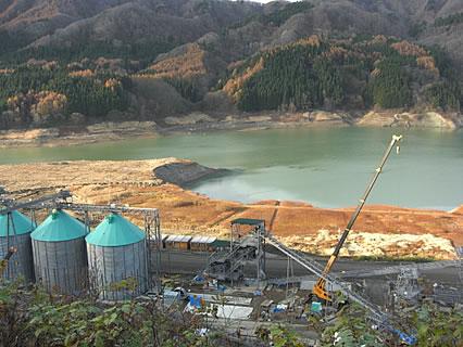 津軽ダム 工事現場