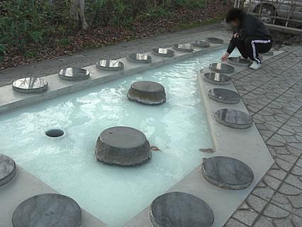 嶽温泉 足湯