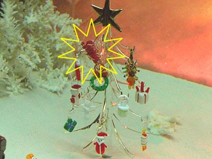 浅虫水族館 水の中からメリ-クリスマス(シロボシアカモエビ)