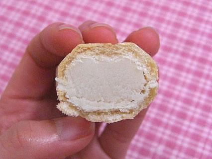 御菓子司 旭松堂 バナナ最中 断面