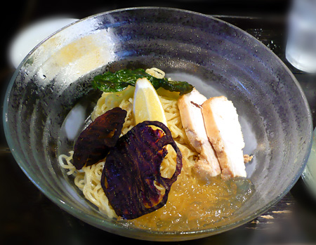 クリアトマトの冷製スープ麺