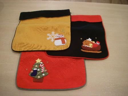 クリスマス押絵巾着1