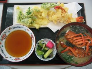 伊勢海老の天ぷら定食