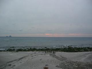前浜の夕暮れ