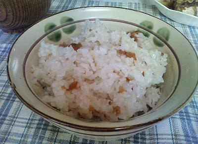 梅干の炊き込みご飯