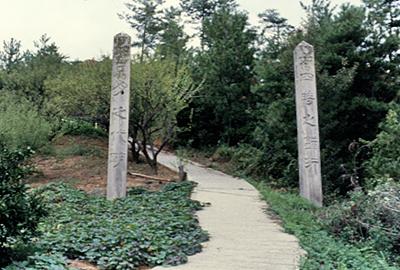 竜王山下の門