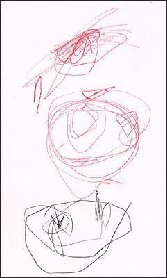子供の描いたオリジナルの線