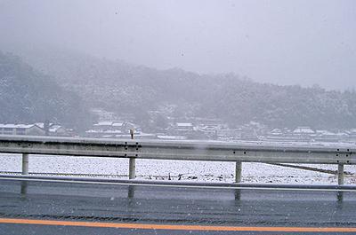 熊野町の雪景色