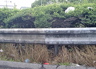 山陽自動車道福山東I.C.のゴミ