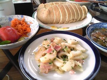長イモのバター炒め&全粒粉パン