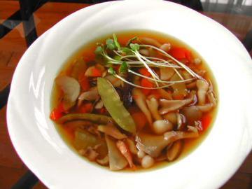 キノコ中華風スープ
