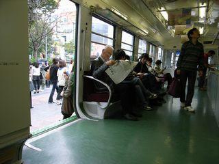 渋谷駅前の旧東急車両