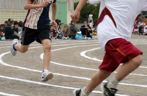 100メートル走=びりっけつ