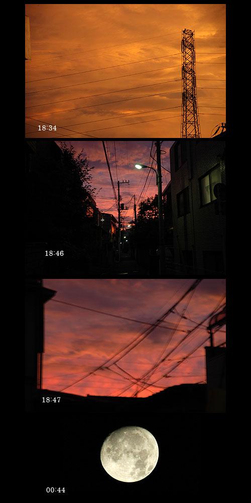 8月8日夕焼け