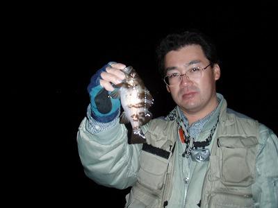 笹岡君。釣れてます!