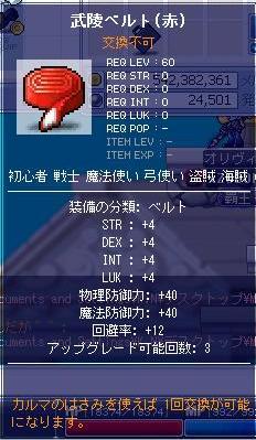 武陵道場ベルト(赤)