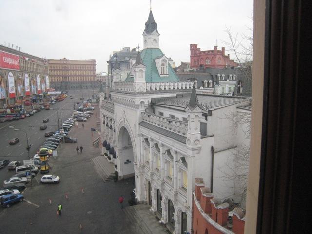 ロシア・・ホテルからの町並み
