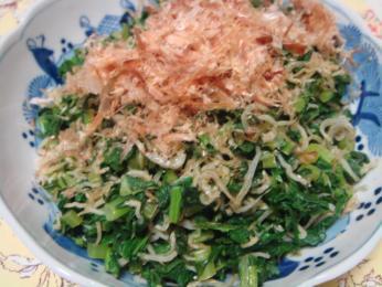 大根菜とじゃこ炒め