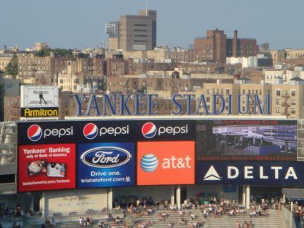 ヤンキースタジアムだ!