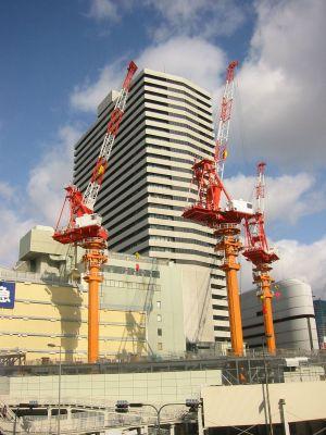 阪急百貨店の新築工事