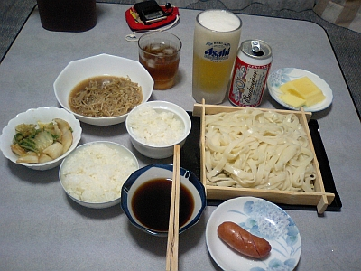 しょぼい晩飯