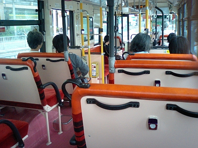 バスがすいてる~