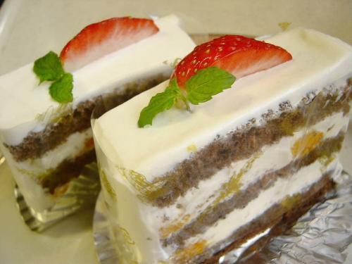 20081103残り物でケーキ