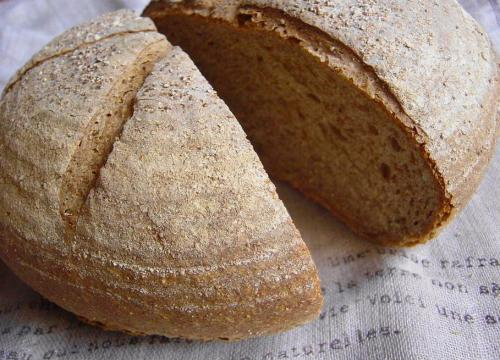 20090123ライ麦パン(カンパーニュ型)