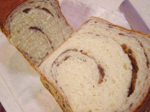 20090128餡子の渦巻きパン断面