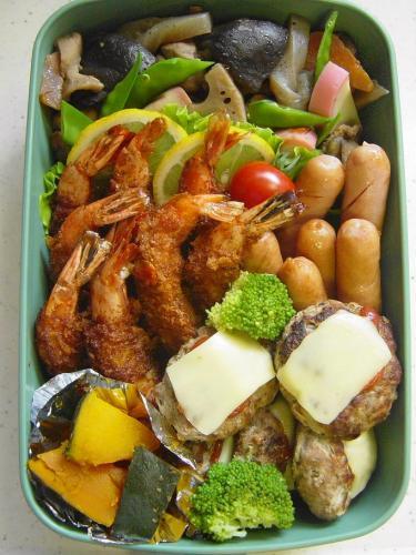 20090530ほのかの弁当(揚げ物煮物)