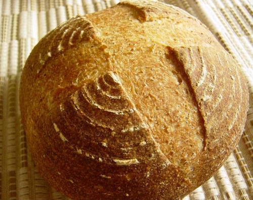 20090603レーズン酵母でライ麦入りカンパーニュ