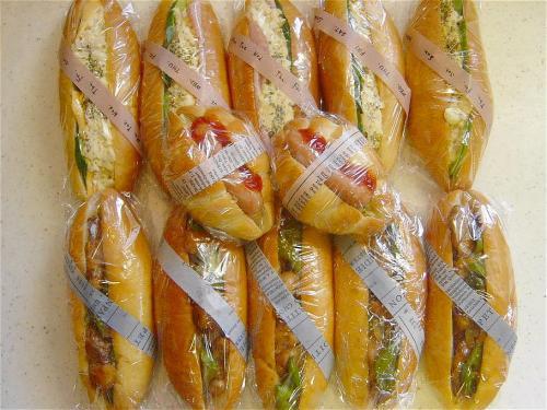 20090814お惣菜パン3種