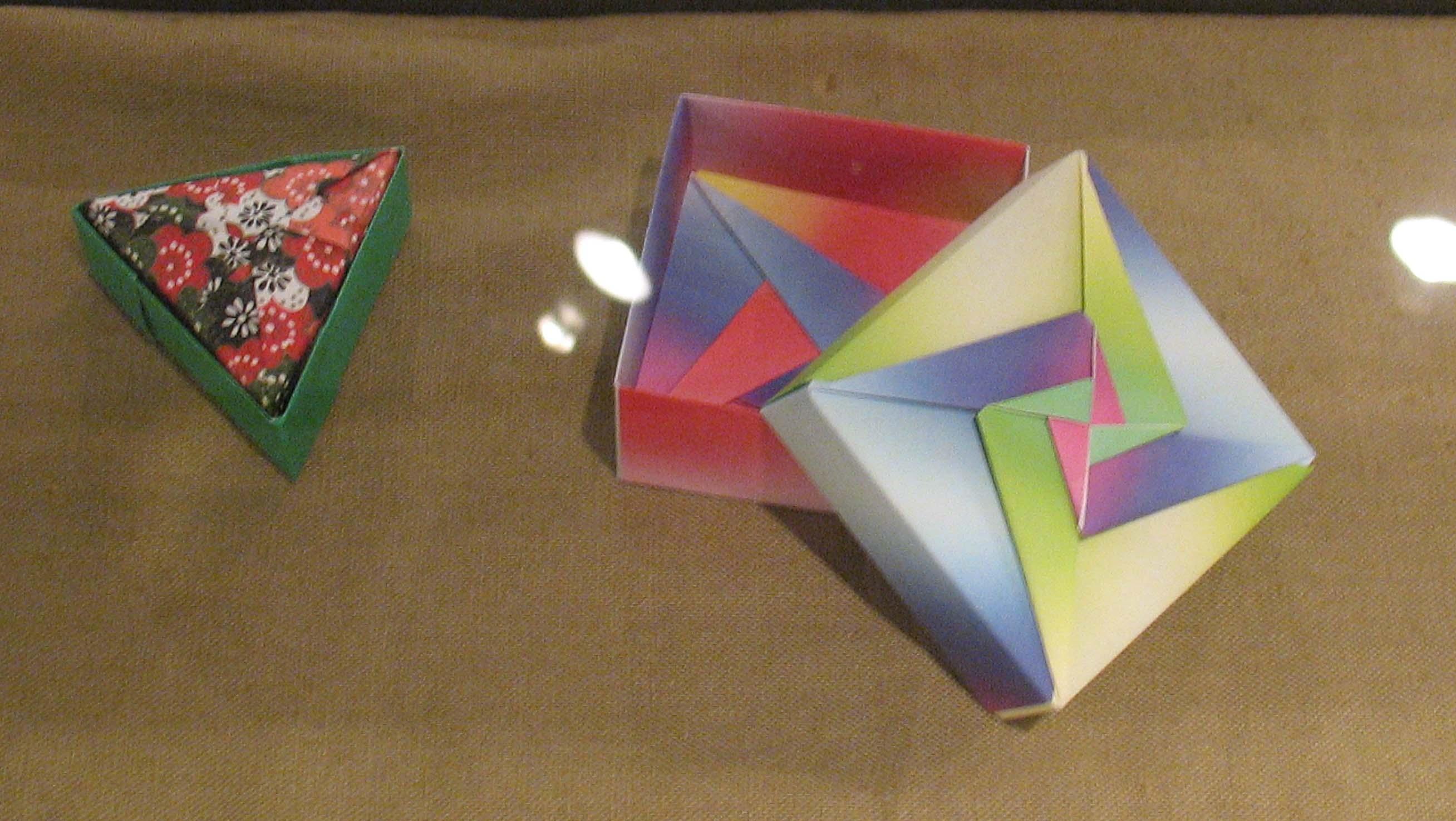すべての折り紙 折り紙ドラゴンの作り方 : 上の3つの幾何学的形の折り紙 ...