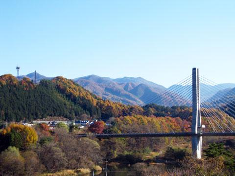 片品村尾瀬大橋付近