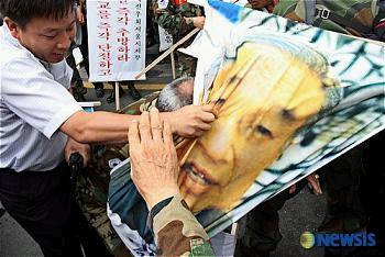 韓国反日デモ