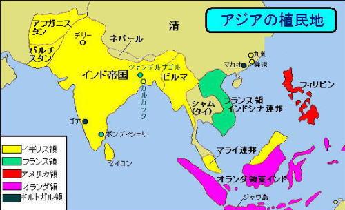 20世紀初頭のアジアの植民地