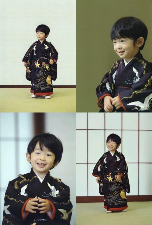 悠仁さま 3歳 和服