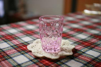 モチーフピンクグラス