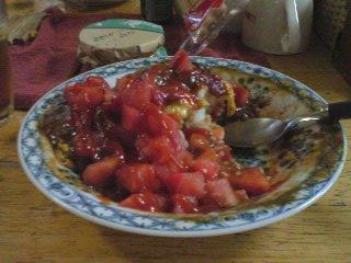 カレー…トマト