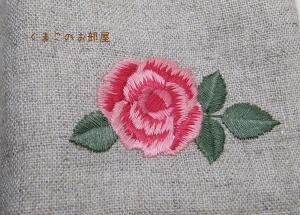 刺繍のアップ