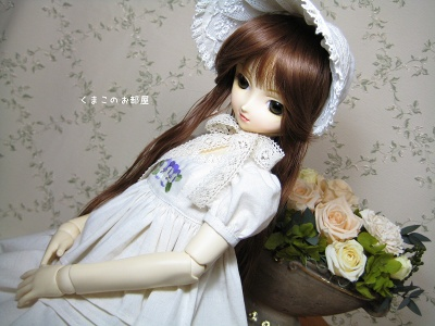 パンジー刺繍のお洋服セット