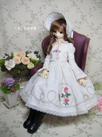 薔薇刺繍のお洋服セット